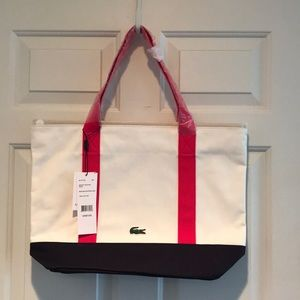 Lacoste Canvas Medium Shopping Bag